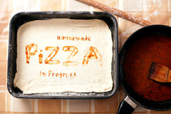 Homemade pizza background Stock Images