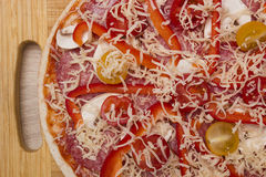 Homemade pizza with bell pepper Stock Image