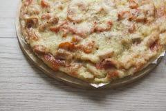 Homemade pizza closeup Stock Photo