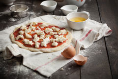Homemade Pizza Dough Royalty Free Stock Photography
