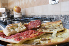 Homemade pizza easy and quick Royalty Free Stock Photography