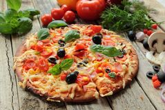Homemade pizza Stock Images