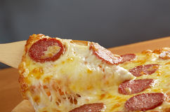 Homemade  pizza  Pepperoni Royalty Free Stock Image