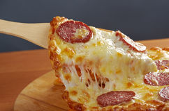 Homemade  pizza  Pepperoni Royalty Free Stock Photos