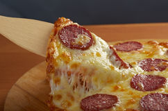 Homemade  pizza  Pepperoni Stock Images