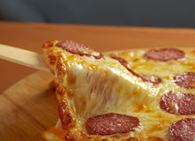 Homemade  pizza  Pepperoni Stock Photos