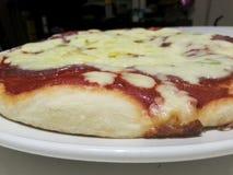 Homemade pizza. Real italian homemade pizza portrait Royalty Free Stock Photography