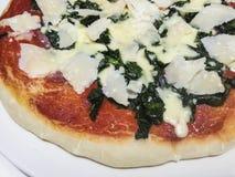 Homemade pizza. Real italian homemade pizza portrait Stock Photo