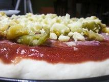 Homemade pizza. Real italian homemade pizza portrait Royalty Free Stock Photo