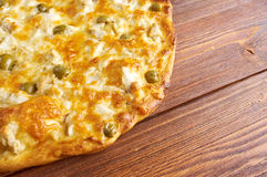 Homemade pizza   with rockfish Stock Photography