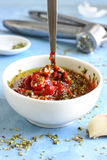 Homemade Pizza Sauce Royalty Free Stock Images