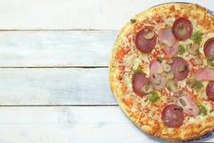Homemade pizza 4 seasons Stock Photo