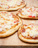 Homemade pizza closeup Royalty Free Stock Photos