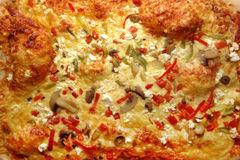 Homemade pizza surface Stock Photos