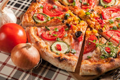 Homemade pizza. Royalty Free Stock Photography