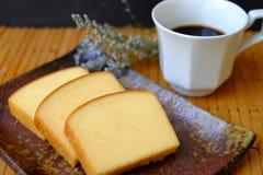 Homemade plain butter cake soft stock photo