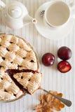 Homemade plum cake Royalty Free Stock Photo