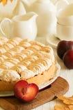 Homemade plum cake Stock Images