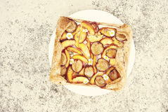 Homemade plum cake Royalty Free Stock Photography