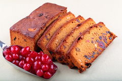 Homemade plum cake. Royalty Free Stock Images