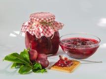 Homemade plum jam Royalty Free Stock Photos