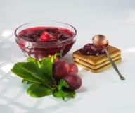 Homemade plum jam Stock Photography