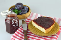 Homemade plum jam Stock Images