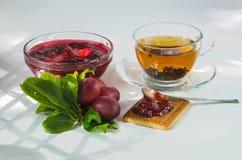 Homemade plum jam Royalty Free Stock Images