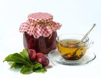 Homemade plum jam Stock Photo