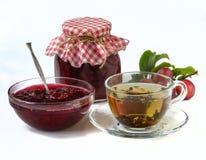 Homemade plum jam Stock Photos