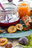 Homemade plum jam Stock Images