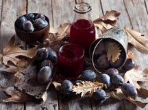Homemade plum juice Stock Image