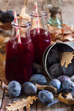 Homemade plum juice Royalty Free Stock Images