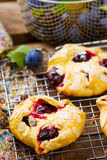 Homemade plum pastry Stock Photography