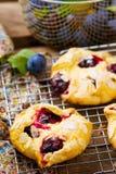 Homemade plum pastry Stock Photography
