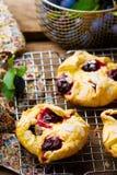 Homemade plum pastry Stock Photo