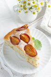 Homemade plum pie Stock Images