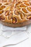 Homemade plum pie Stock Photos