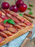 Homemade plum pie Royalty Free Stock Images
