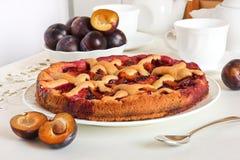 Homemade plum pie Royalty Free Stock Photos