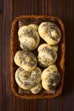 Homemade Poppy Seed Bread Rollls Stock Image