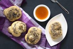 Homemade Poppy Seed Bread Rollls Royalty Free Stock Photo