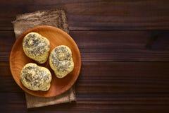 Homemade Poppy Seed Bread Rollls Stock Photos