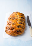 Homemade poppy seed roll Royalty Free Stock Photography