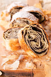 Homemade poppy strudel Stock Images