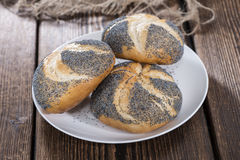 Homemade Poppyseed Buns Stock Images