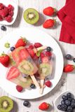 Homemade popsicle Royalty Free Stock Photos