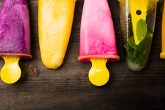Homemade Popsicles and Ice Cream Royalty Free Stock Photo