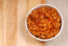 Homemade pork and beans Royalty Free Stock Images