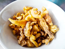 Homemade pork Crackling/ Pork crackling Stock Image
